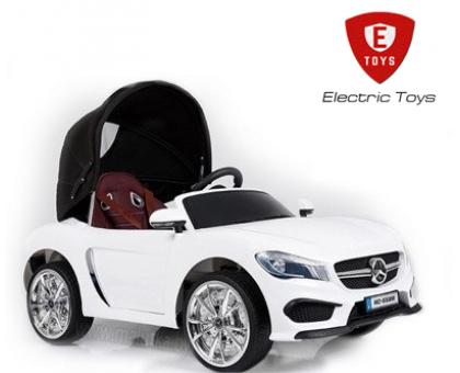 Детский электромобиль Electric Toys Mercedes S63 LUX со съёмной крышей, кожаное сиденье, светодиодные огни, мягкие колеса EVA